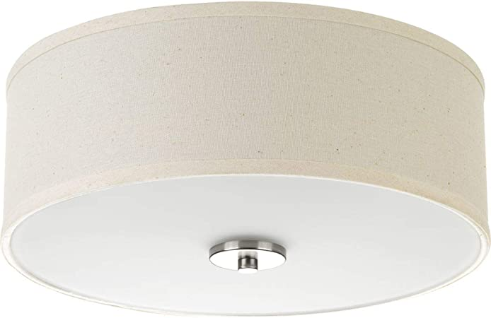 Progress Lighting P3713 09 Inspire Two Light Flush Mount Brushed Nickel Home Improvement Amazon Com