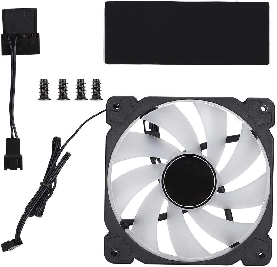 12cm 4-Pin 4 LED PWM PC Computer Case CPU Cooler Cooling Fan Halo-Color 120mm