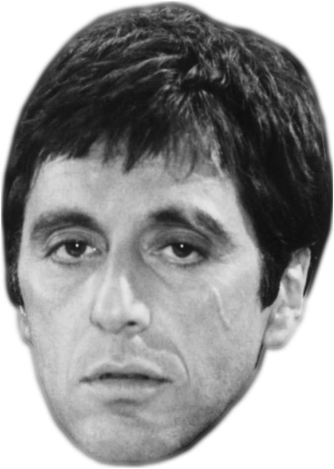 Card Face and Fancy Dress Mask Celebrity Mask B/&W Al Pacino