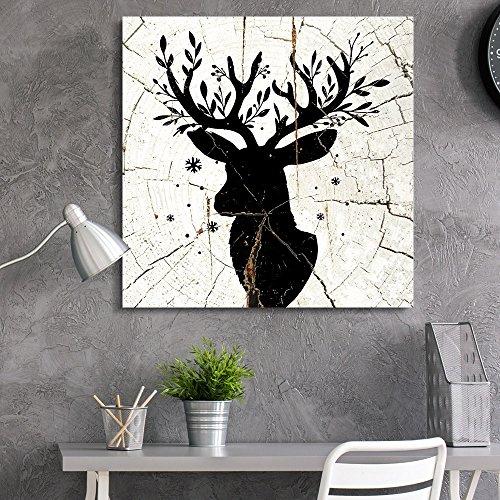 Square Deer Antlers Wood Effect
