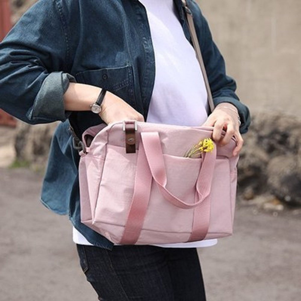 Equipment Travel Bags Female Canvas Shoulder Bag Large Capacity Casual Multi Functional For Lady To Short Messenger