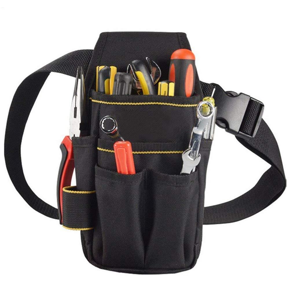 Yzllq Bolsa de Herramientas de Lona con cintur/ón Ajustable Bolsa de Trabajo de Cintura Profesional Resistente Bolsa de Herramientas de Bolsillo