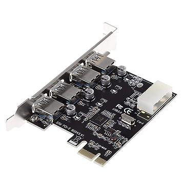 Calistouk - Tarjeta PCIe USB PCI-E a 4 Puertos USB 3.0 PCI ...