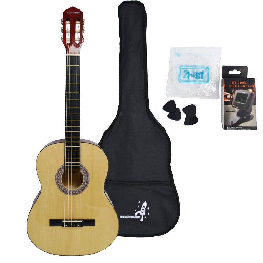 Rocket CG44PACK - Paquete de guitarra clásica: Amazon.es: Instrumentos musicales