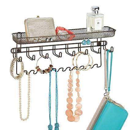 mDesign Colgador de joyas – El perfecto joyero organizador para pendientes y otros accesorios – Si