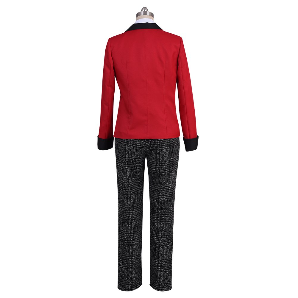 starfun Kakegurui Compulsive Gambler Suzui Ryota Cosplay Costume Manyuuda Kaede School Uniform Suit Red by starfun (Image #3)