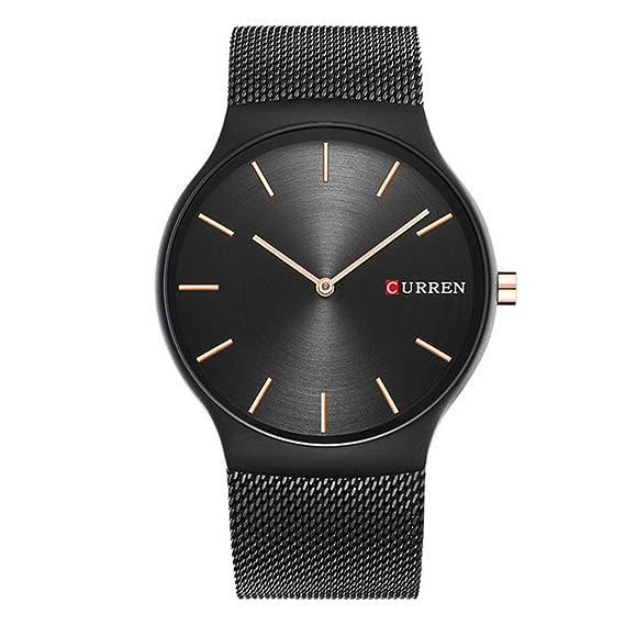 Amazon.com: CURREN 8256 - Reloj de pulsera analógico de ...