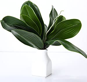 WINOMO Orchid Leaf Artificial Orchid Plant Fake Flower Leaf Home Office Decoration