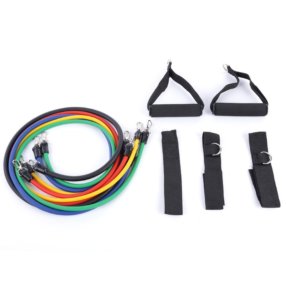 11pcs Set Latex Resistance Bands Exercise Tubes Fitness Yoga Pull Rope Tubing Expanders Elastic Rope Crossfit Fitness Equipment by Sun Vale (Image #2)