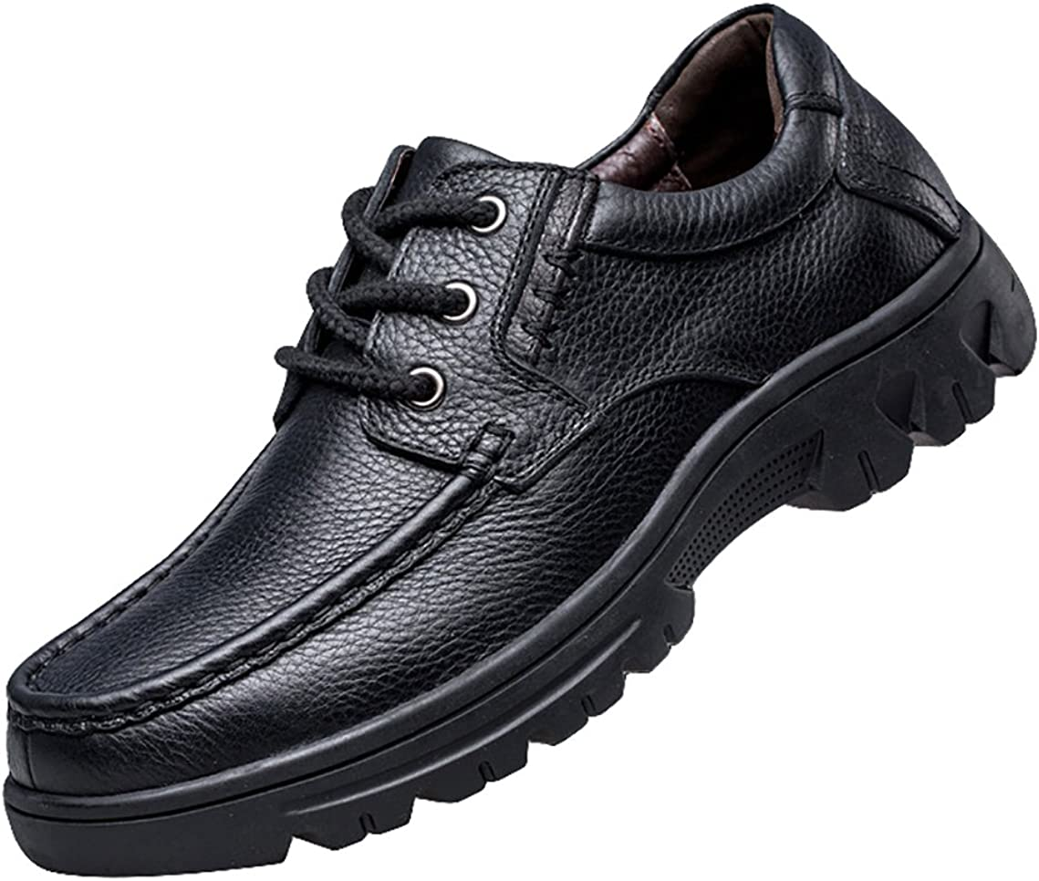 NiNE CiF Mens Leather Shoes Casual Work Shoes Black