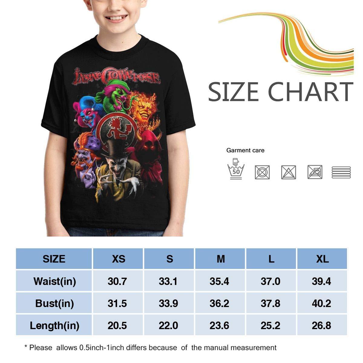 Caiyuzhuanmai Boys,Girls,Youth Insane Clown Posse Tee Shirt