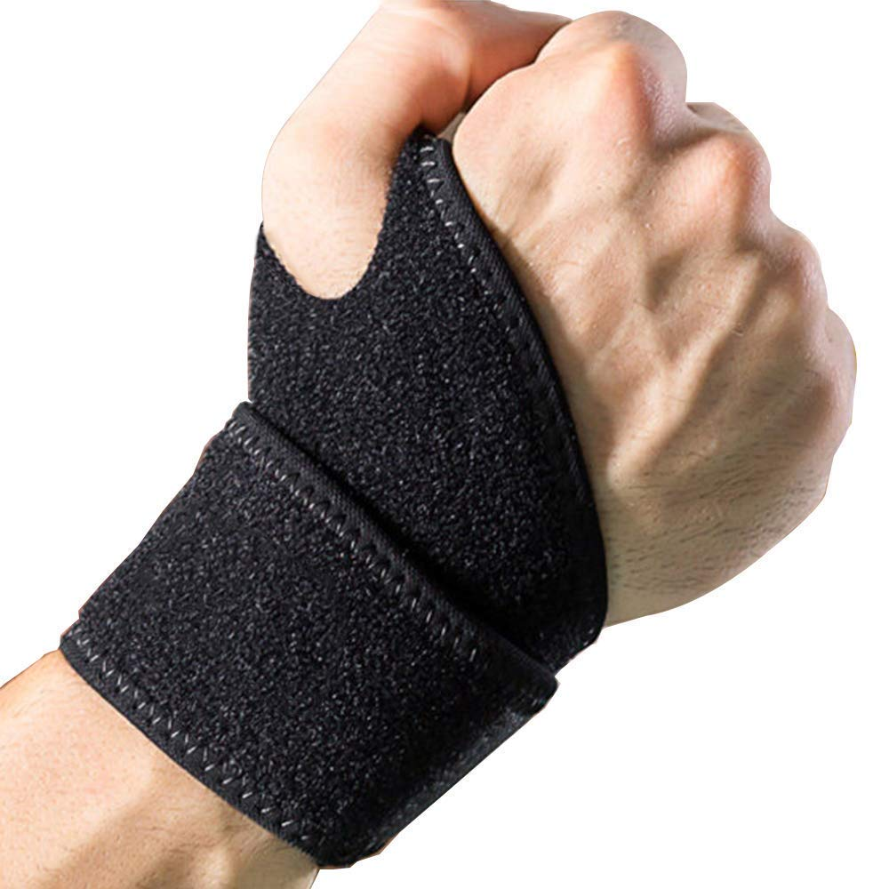 Strength Training Carpal Tunnel Tendonitis Wrist Pain Black 2 Pack Adjustable Athletic Wrist Wrap Bracer Left and Right Hand for Weight Lifting . DanziX Wrist Support Braces