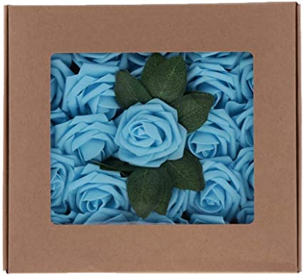 B Blesiya Artificiales de Espuma Eolores Caja de Flores Rosas ...