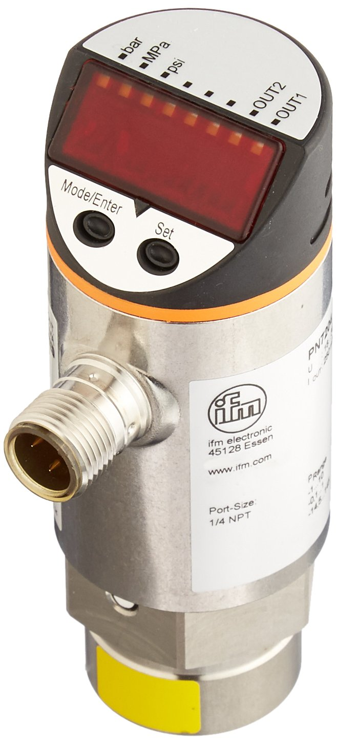 IFM Efector PN7204 Electronic Pressure Monitor, -14.5 to 145 PSI/-1 to 10 bar/-0.1 to 1.0 MPa Measuring Range: Amazon.com: Industrial & Scientific