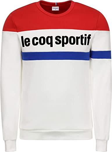 Le Coq Sportif Tri Crew Sweat N/°1 M New Optical White Hombre Hombre