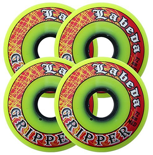 Labeda Gripper Wheels (4 Pack) Yellow 80mm