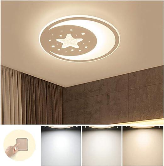 28W Lámpara De Techo LED Regulable Moderno Infantil Luz De Techo ...