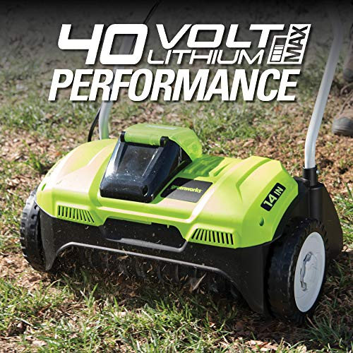 Image of Greenworks 40V 14-Inch Cordless Dethatcher/Scarifier, Battery and Charger Not