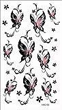 (ファンタジー) THE FANTASY タトゥーシール 蝶 チョウ Butterfly-10【レギュラー】-7種類