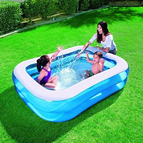 54005 Piscina rectangular inflable Bestway familia 2 anillos 201 x ...