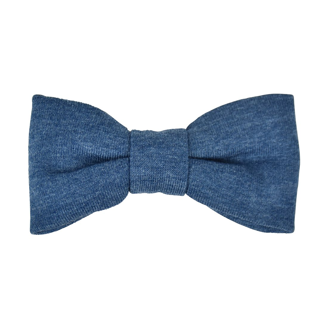 Pre-tied Bowtie for Boys Clip-on Solid Jersey-Chambray