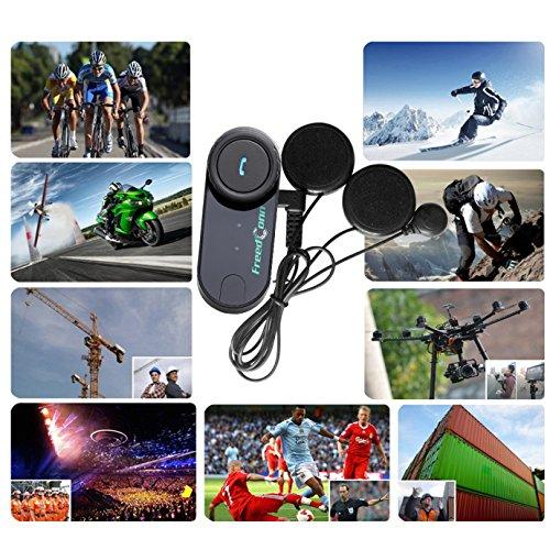 FreedConn T-COMVB Motorcycle Motorbike Helmet Bluetooth Intercom Interphone Headset, for 2 or 3 riders/MP3 player/GPS/FM radio/Hands Free (2Pack) by FreedConn (Image #8)