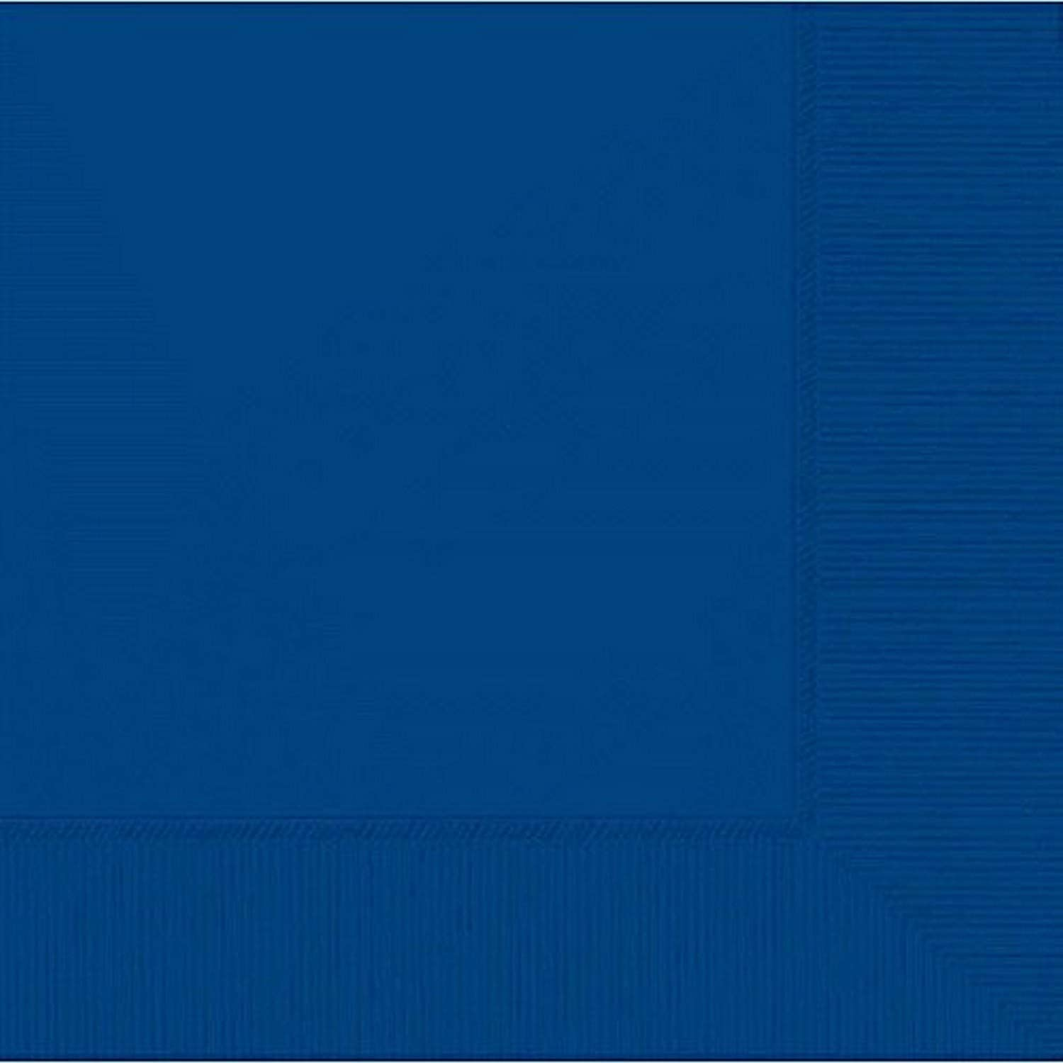 Amscan Bright Royal Blue 2-Ply Paper Beverage Napkins, 50 Ct. | Party Tableware