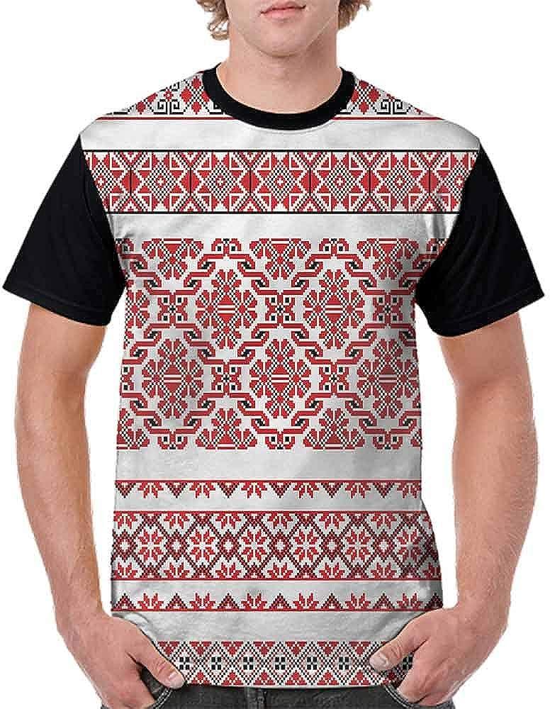 BlountDecor Classic T-Shirt,Crochet Look Nostalgic Fashion Personality Customization