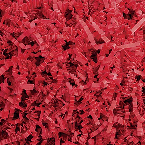 Crinkle Cut Paper Shred Filler (2LB) for Gift Wrapping & Basket Filling – Red | MagicWater Supply