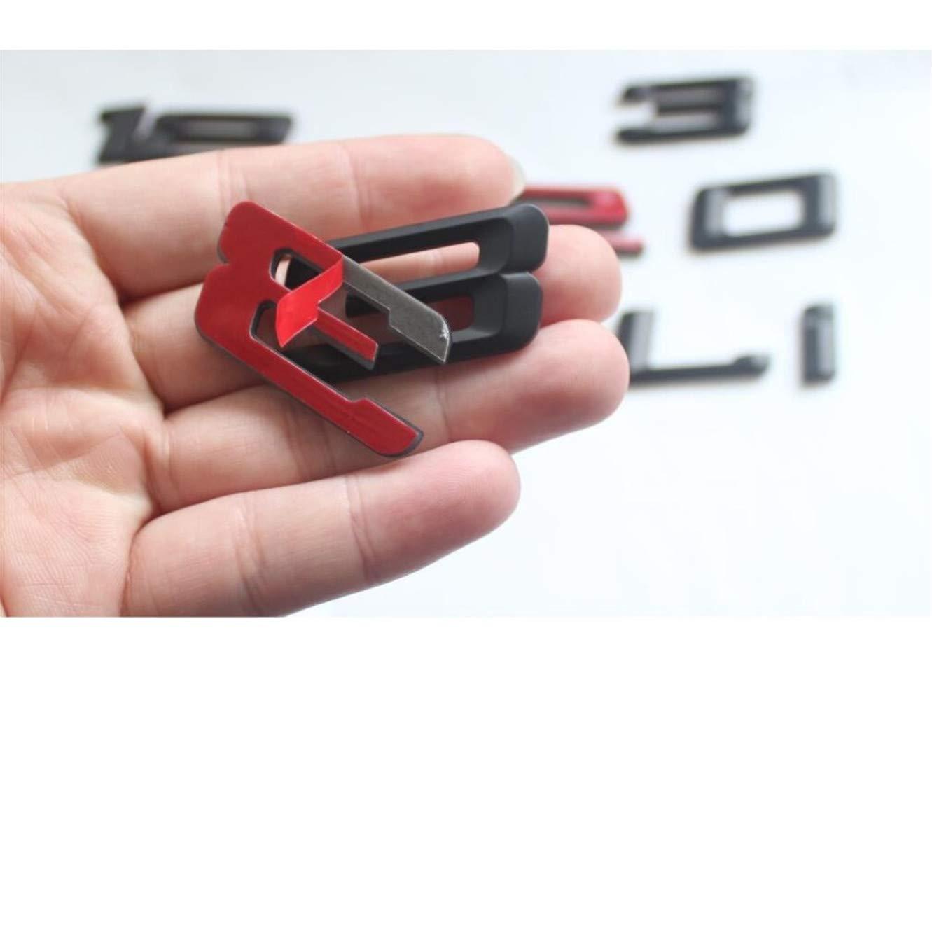 116i Matte Black ABS Number Letters Word Car Trunk Badge Emblem Emblems 1 Series 116i 118i 120i 125i 128i 135i 130i