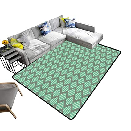 Amazoncom Alsohome Silky Smooth Bedroom Mats Pattern Bold