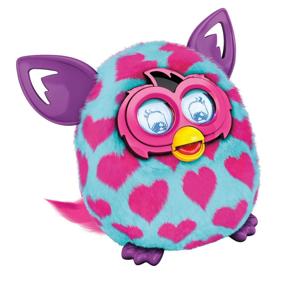 Amazon Com Furby Boom Pink Hearts Plush Toy Toys Amp Games
