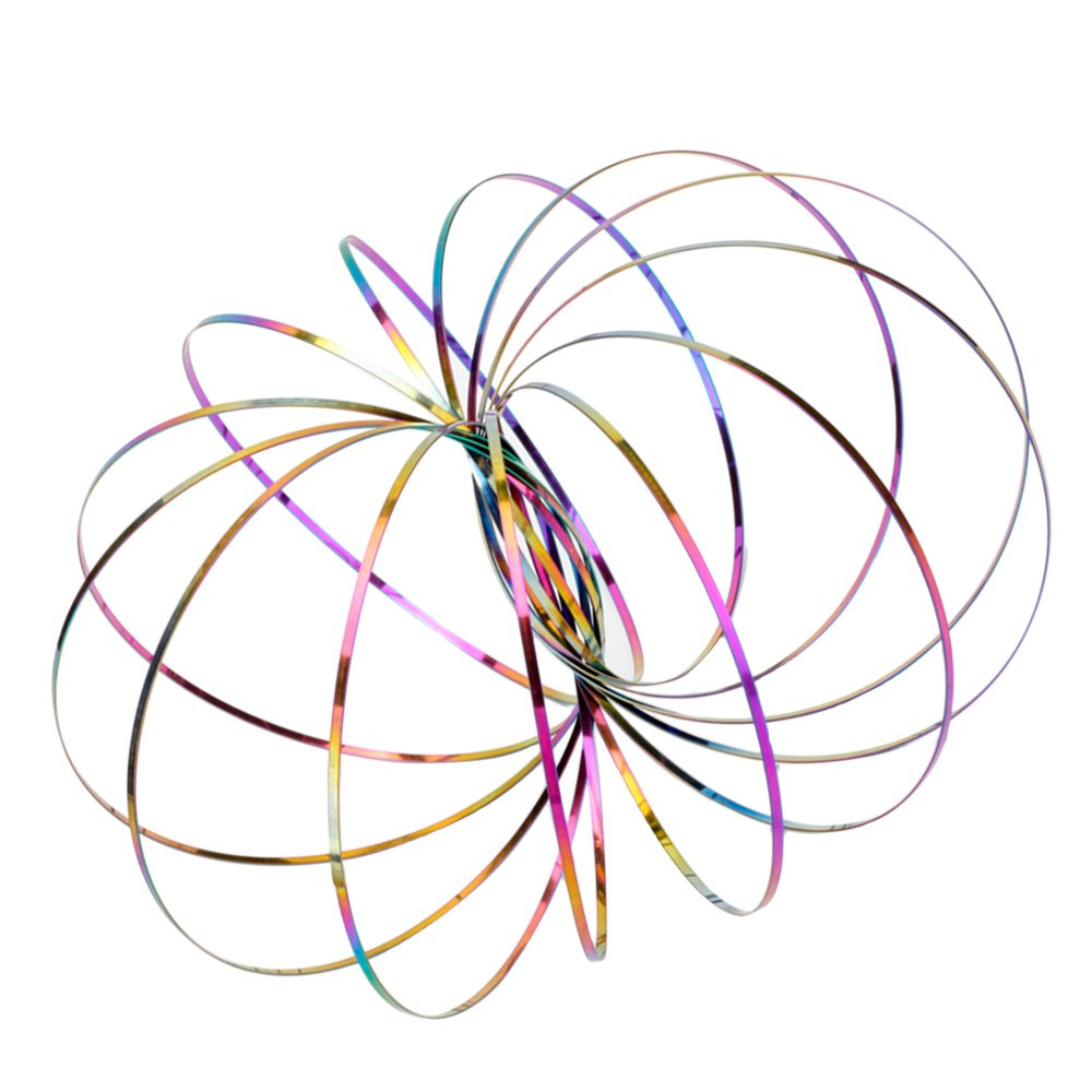 Yooger Magic Flow Ring Spirale Gold Edelstahl Interactive Kinetic Armband Spielzeug Geschenke f/ür Kinder und Erwachsene