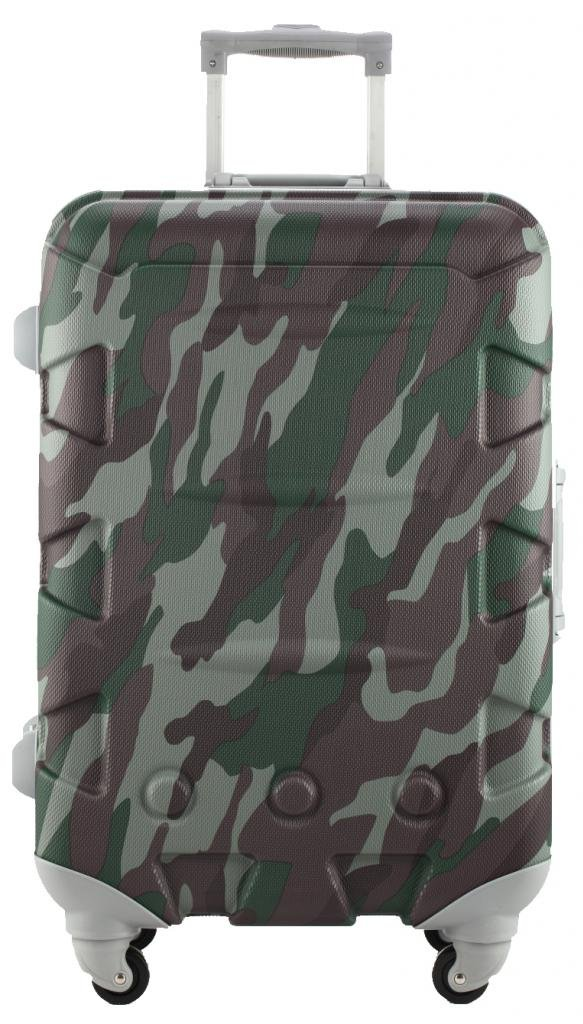 Ambassador Luggage ABS 20 Inch Carry On Luggage Spinner Suitcase Camouflage by Ambassador