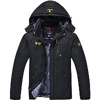 JINSHI Mens Mountain Waterproof Fleece Ski Jacket Windproof Rain Jacket