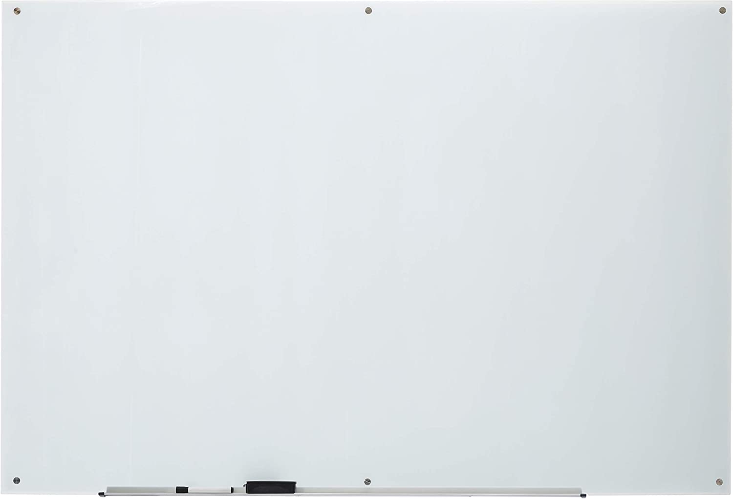 AmazonBasics Glass Dry-Erase Board - White, Magnetic, 6' x 4'