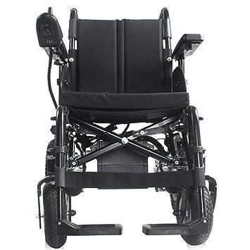 Amazon.com: Silla de ruedas eléctrica plegable, ligera ...