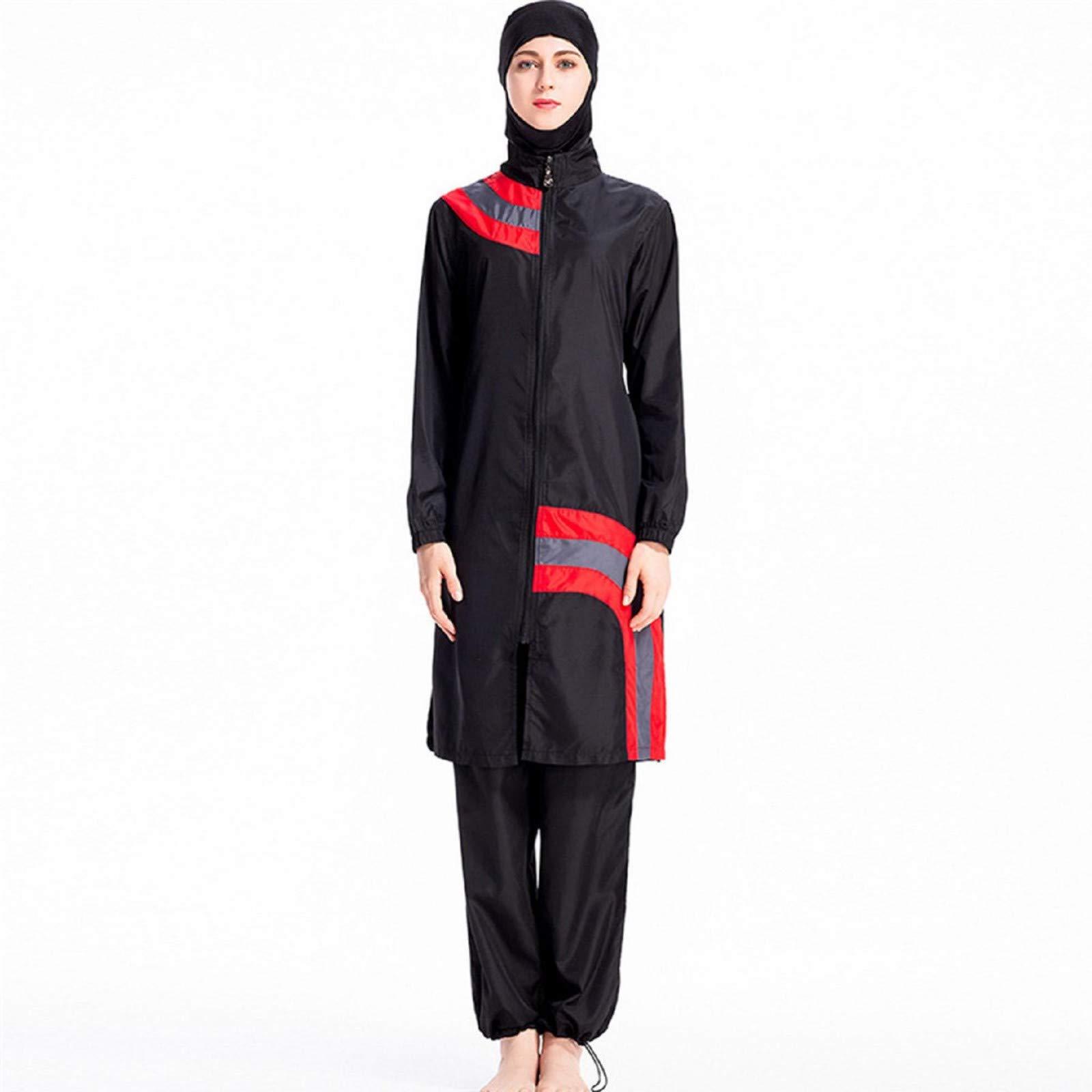 Swimwear Swimsuits for Women,Women Muslim Bathing Suit + Cap + Pants