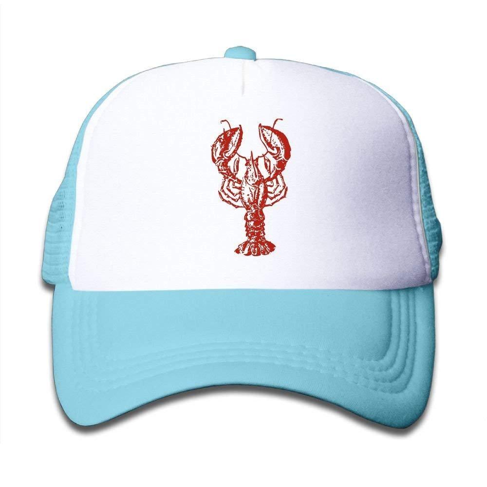 FEAIYEA Crawfishs Black Adjustable Baseball Caps Mesh Hat Boy Girl