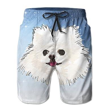 Amazon.com: chibaokun lindo perro de Pomerania cara hombres ...