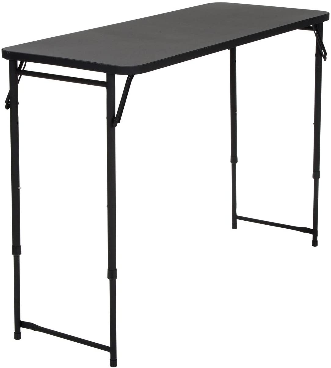 "COSCO 20"" x 48"" Adjustable Height PVC Top Table, Black"