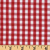 Woven 1/4'' Gingham Red Fabric By The Yard