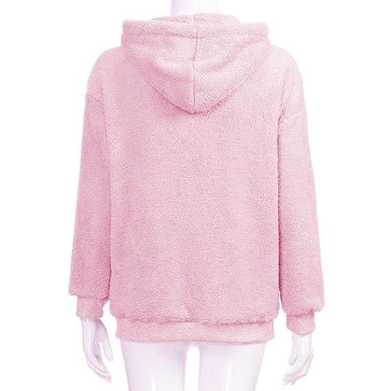 Damen Baggy Kapuzen Mantel Jacke Hoodie Boyfriend Winter Sweatjacke Outwear Tops