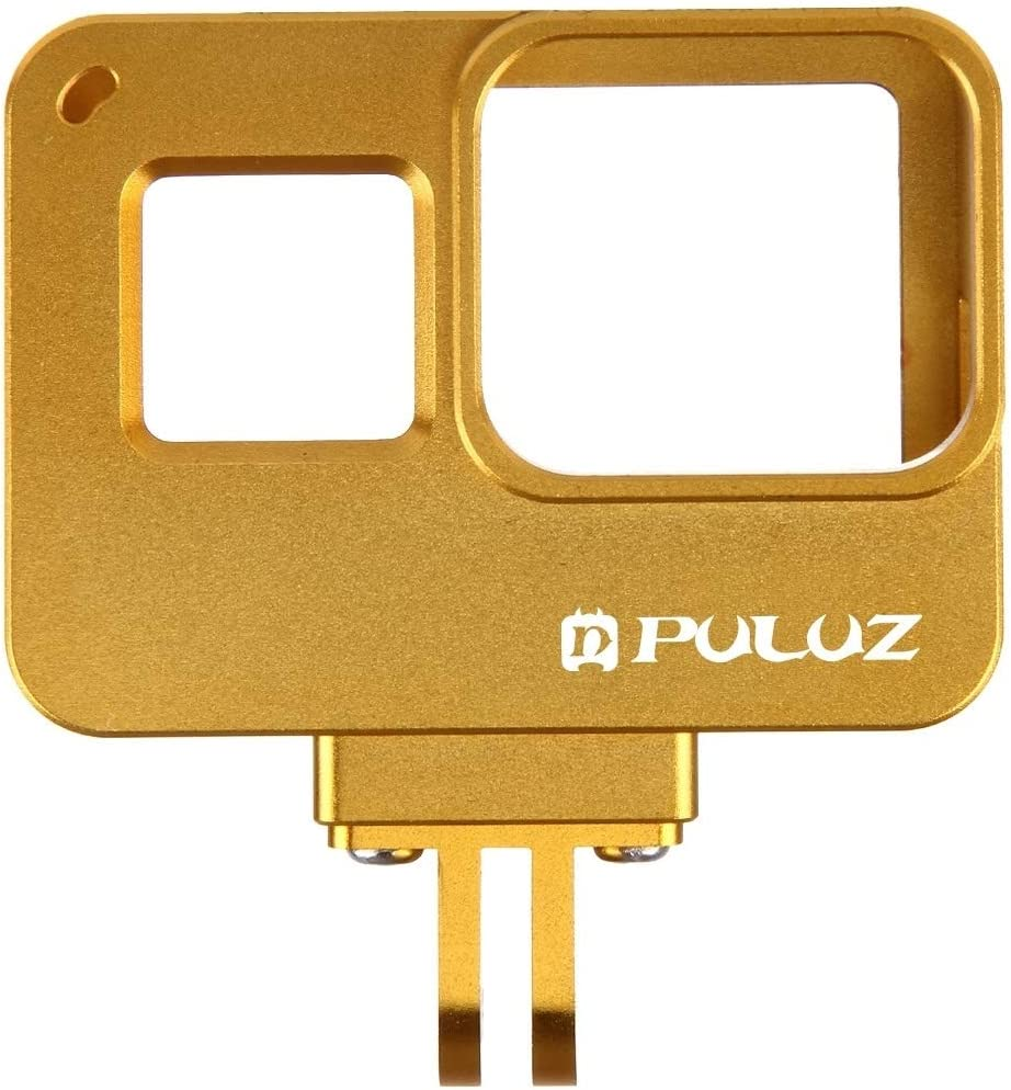 2018 //7 Black //6//5 Durable Color : Gold CAOMING Housing Shell CNC Aluminum Alloy Protective Cage with Insurance Frame for GoPro Hero