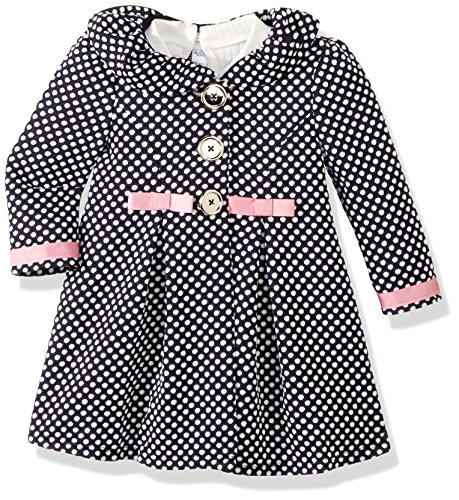 Bonnie Baby Baby Girls Dress and Coat Set, Navy, 3-6 Months ()