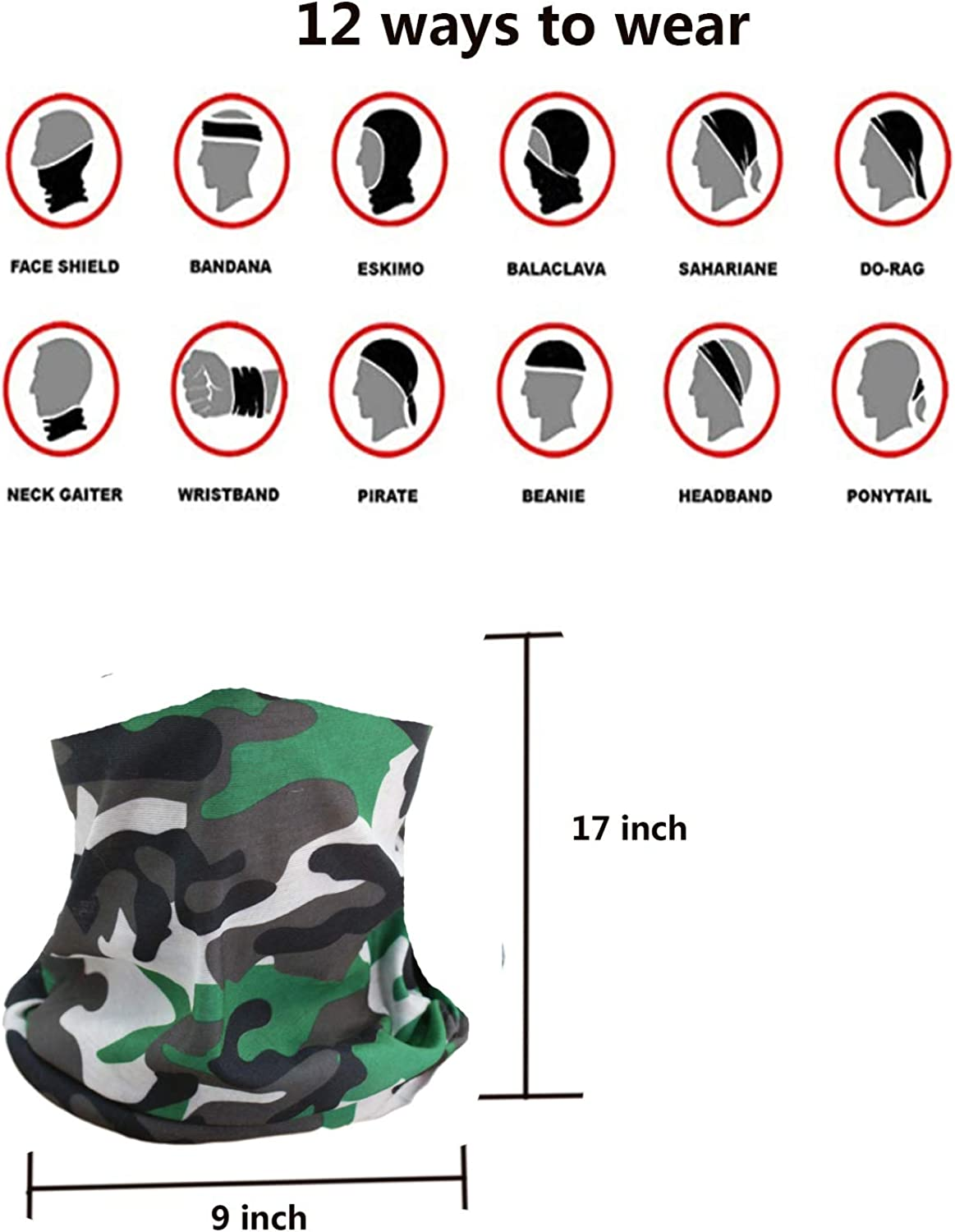 8-18 Years 4 PackKids Summer Protection Face Cover Cute Neck Gaiter Bandanas for Boys and Girls