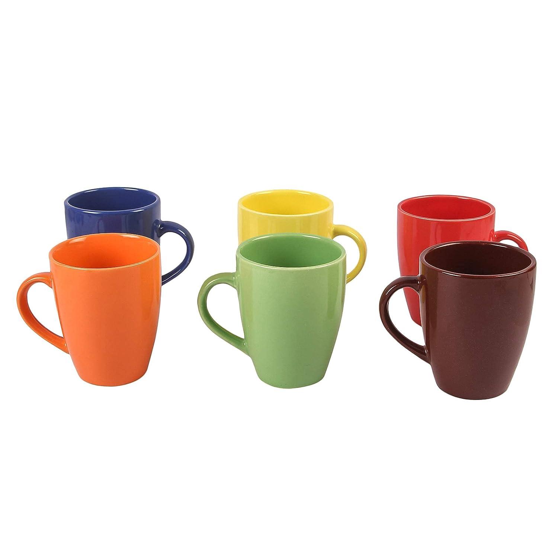 Ceramic Coffee Mugs, Set of 6