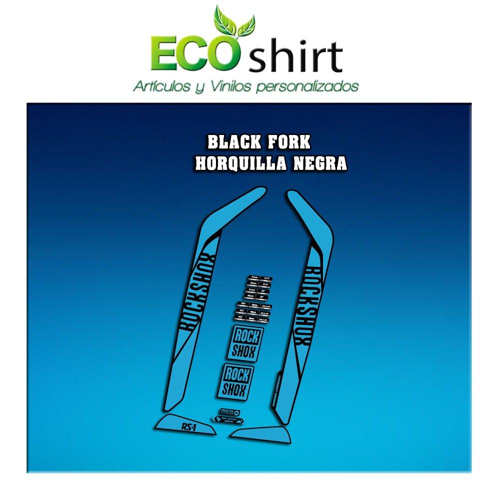 Light Blue Ecoshirt 6P-6HUN-9WIO Stickers Fork Rock Shox Rs1 2017 Am128 Aufkleber Decals Autocollants Adesivi Forcela