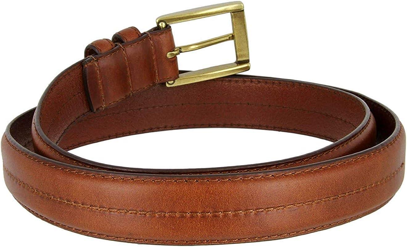 MONIQUE Men 30 mm Wide Genuine Italian Leather Sturdy Stitch Metal Buckle Belt