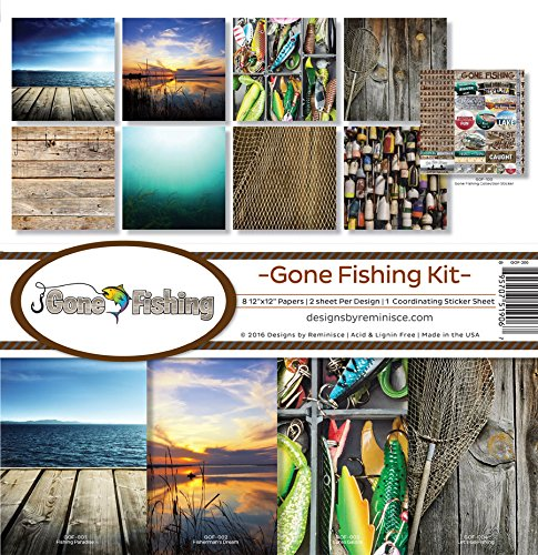 Reminisce Gof 200 Gone Fishing Scrapbook Collection Kit